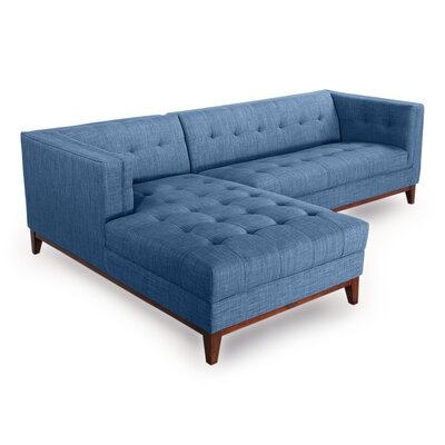 Harrison Sectional Upholstery: Blue Curacao, Orientation: Left Hand Facing