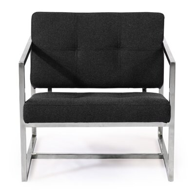 Cube Armchair Color: Charcoal