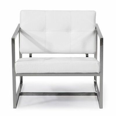Cube Armchair Upholstery: Arctic White