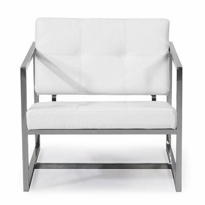 Cube Armchair Color: Arctic White