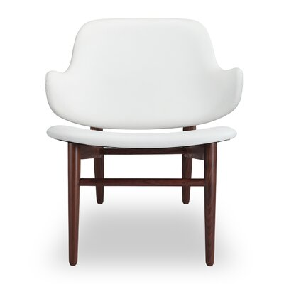 Larsen Side Chair Upholstery: White