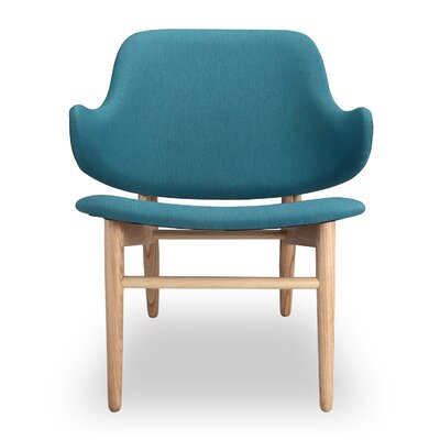 Larsen Lounge Chair Upholstery: Urban Surf, Finish: Ash