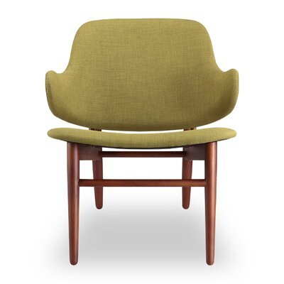Larsen Lounge Chair Upholstery: Atomic Moss, Finish: Walnut Stain