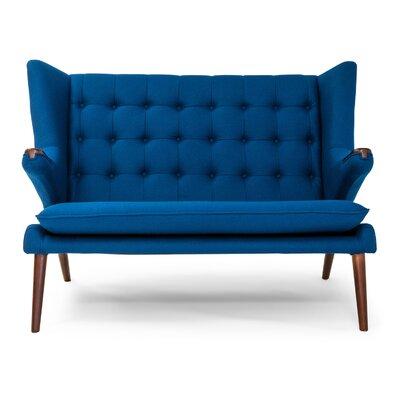 Bear Wegner Papa Wing Loveseat Upholstery: Sapphire