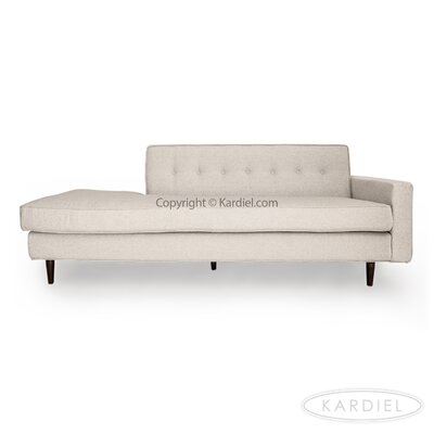 Mickey Mid-Century Sofa Right Upholstery: Heather White