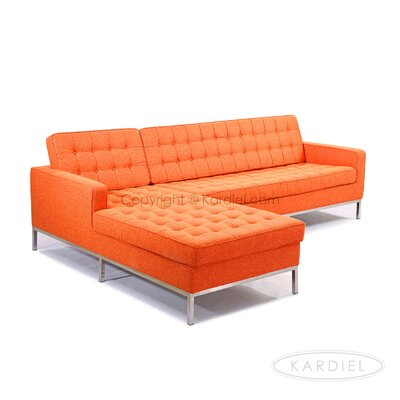Sectional Upholstery: Cinnabar, Orientation: Left Hand Facing
