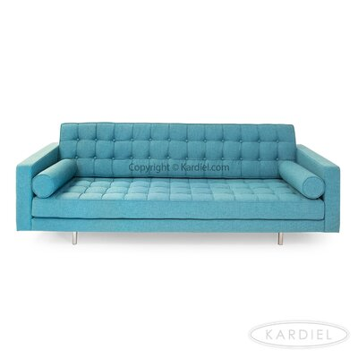 Madison Mid Century Modern Sofa Upholstery: Dutch Blue