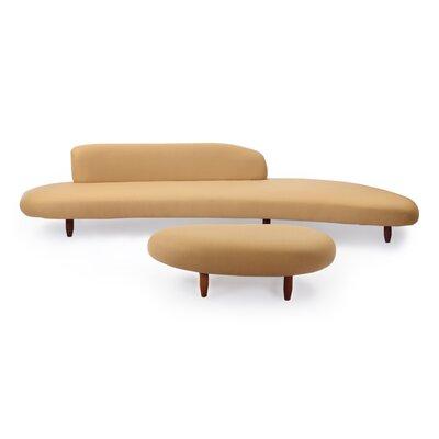 Potvin Mid Century Modern Sofa and Ottoman Set Upholstery: Latte