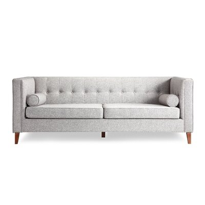 Jefferson Mid Century Modern Chesterfield Sofa Upholstery: Urban Pebble