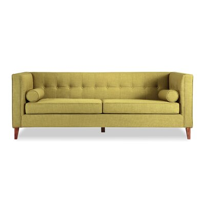 Jefferson Mid Century Modern Chesterfield Sofa Upholstery: Atomic Moss