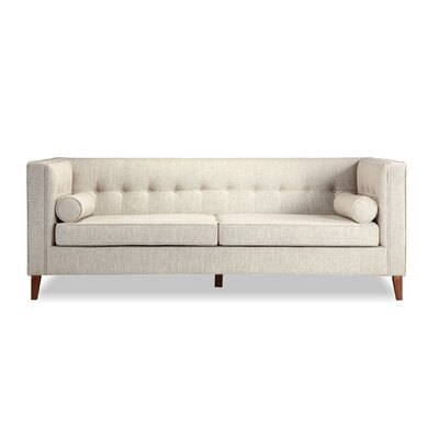 Jefferson Mid Century Modern Chesterfield Sofa Upholstery: Urban Hemp