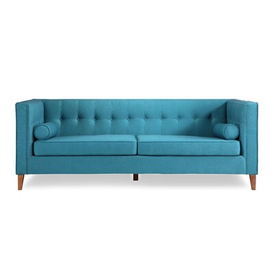 Jefferson Mid Century Modern Chesterfield Sofa Upholstery: Urban Surf