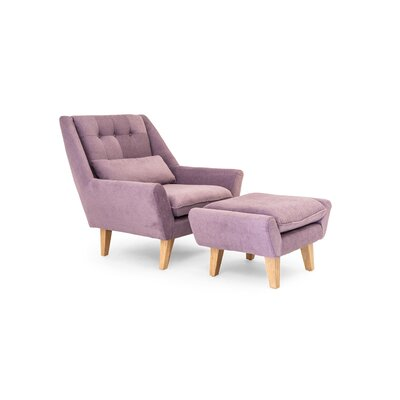 Stuart Lounge Chair and Ottoman Upholstery: Plush Orchid