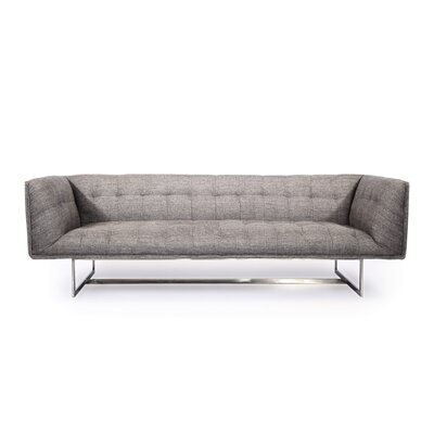 Shaner Mid Century Modern Chesterfield Sofa Upholstery: Deco Gray