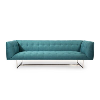 Shaner Mid Century Modern Chesterfield Sofa Upholstery: Dutch Blue Twill