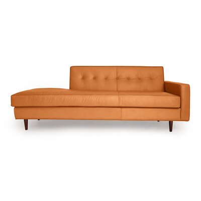 Mickey Mid Century Modern Leather Sofa Upholstery: Canyon