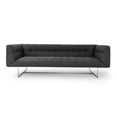 Edward Mid Century Modern Chesterfield Sofa Upholstery: Chevron Gray