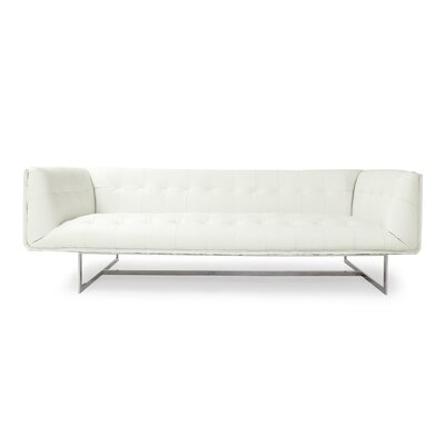 Edward Mid Century Modern Leather Sofa Upholstery: Arctic