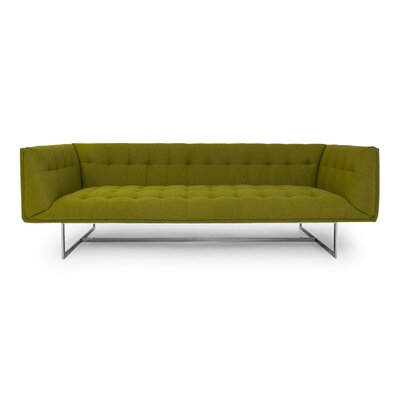 Edward Mid Century Modern Chesterfield Sofa Upholstery: Regent Green