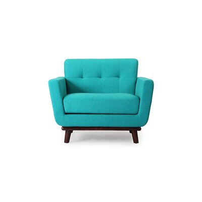 Luther Armchair Upholstery: Turquoise