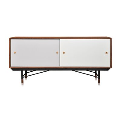 Color Theory Series Credenza Finish: Walnut/Grey