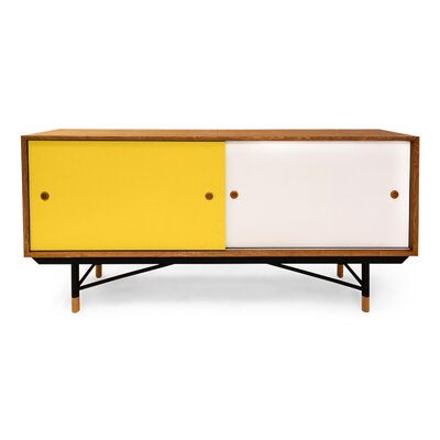 Color Theory Series Credenza Finish: Natural/Yellow
