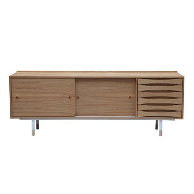 Vodder Series Credenza Color: Natural Ash