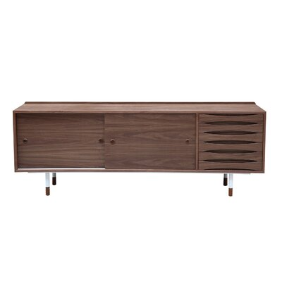 Vodder Series Credenza Color: Walnut