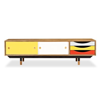 71 TV Stand Color: Natural / Yellow