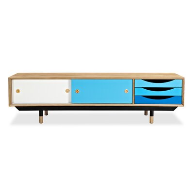 71 TV Stand Color: Natural / Blue