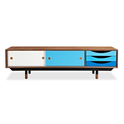 71 TV Stand Color: Walnut / Blue