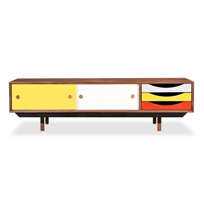 71 TV Stand Color: Walnut / Yellow