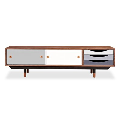71 TV Stand Color: Walnut / Gray
