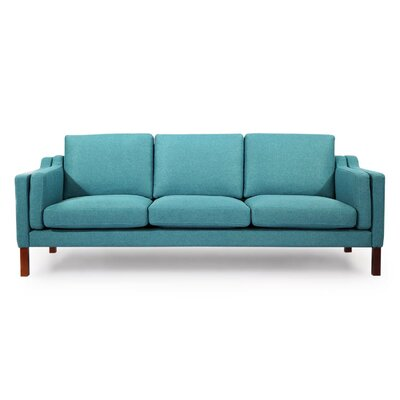 Rolando Mid Century Modern Sofa Upholstery: Dutch Blue