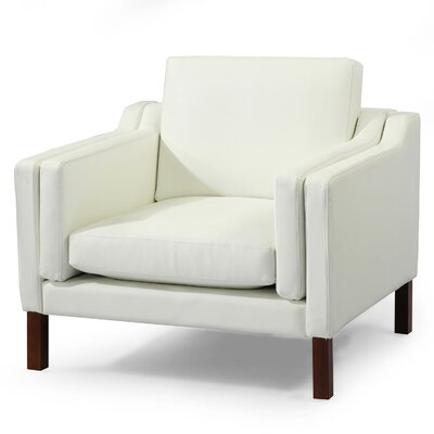 Rolando Club Chair Upholstery: Arctic White