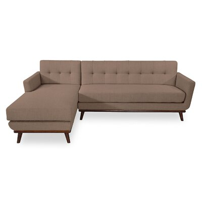 Luther Sectional Upholstery: French Press, Orientation: Left Hand Facing