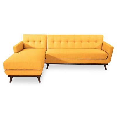 Luther L-Shaped Sectional Upholstery: Citrus Pop, Orientation: Left Hand Facing