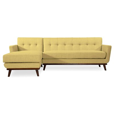 Luther Sectional Upholstery: Lemon Grass, Orientation: Left Hand Facing