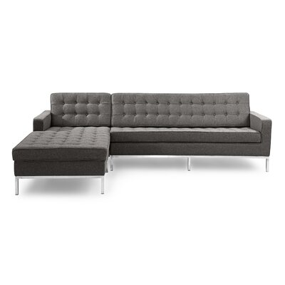 Sectional Upholstery: Cadet Gray, Orientation: Left Hand Facing