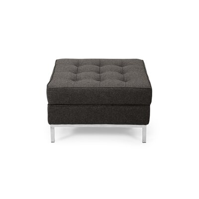 Modern Storage Ottoman Upholstery: Charcoal
