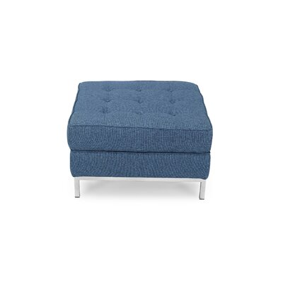 Cocktail Ottoman Upholstery: Azure