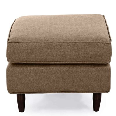 Mickey Mid Century Modern Ottoman Color: Brown