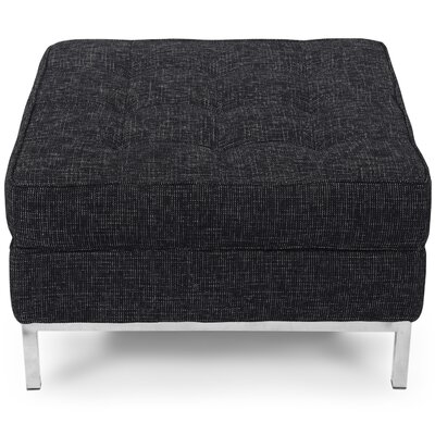 Modern Storage Ottoman Upholstery: Graphite