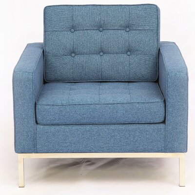 Modern Armchair Color: Azure