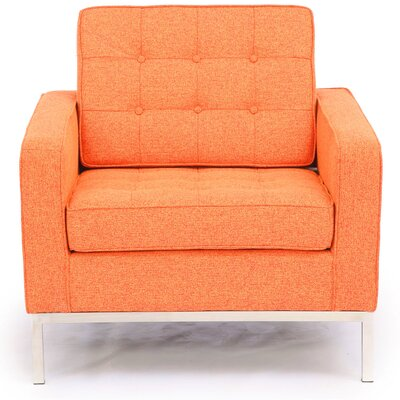 Modern Arm Chair Color: Cinnabar