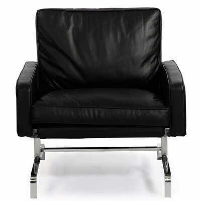 Modern Armchair Color: Black