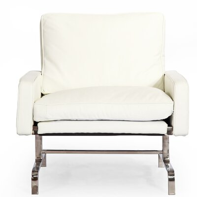 Modern Armchair Color: Arctic White