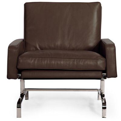 Modern Arm Chair Color: Coco Brown