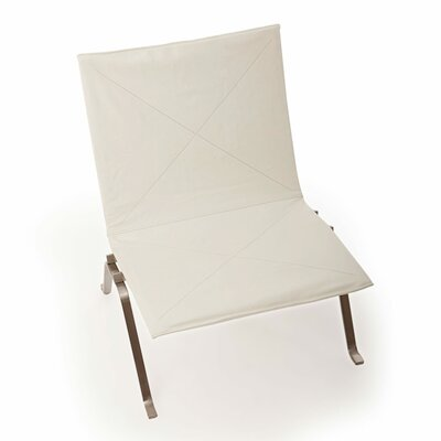 Modern Lounge Chair Finish: Arctic White