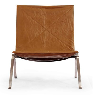 Modern Lounge Chair Finish: Canyon